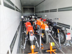 Motorrad-Transport, Bike-Transport, Sicherungssystem, Sicherungstechnik
